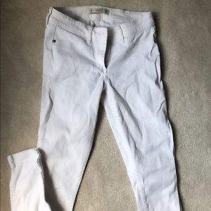 White low rise jeans